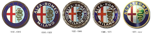 Alfa badges - 1910 to present