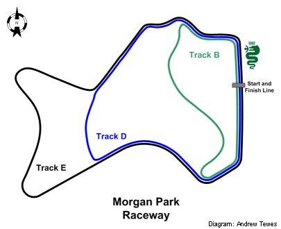 Morgan Park Raceway Diagram